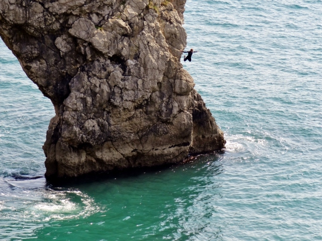 Jumping Off Durdle Door