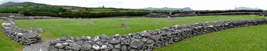 Reask Monastic Site Panorama, DIngle Peninsula, Ireland