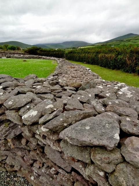 Reask Monastic Site Walls, DIngle Peninsula, Ireland