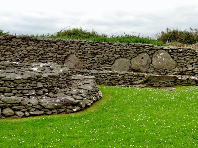 Reask Monastic Site Wall Stones, DIngle Peninsula, Ireland