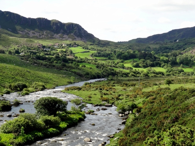 Caragh River View Towards Commaun, Ring of Kerry, Ireland