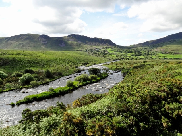Caragh River View Towards Commaun Near Ballintleave, Ring of Kerry, Ireland
