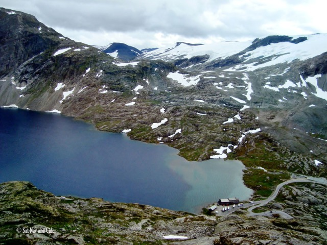 Djupvatn Lake and the Blåfjell Glacier, Norway