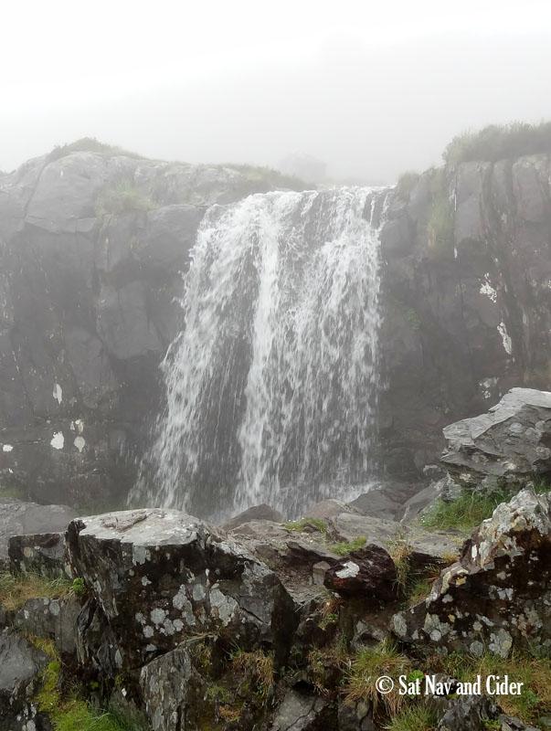 Waterfall in Fog on Conor Pass, Dingle Peninsula, Ireland