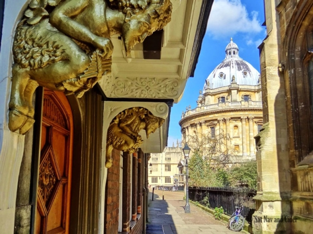 Radcliffe Camera and Door and Lamppost Linked to C.S. Lewis, Oxford