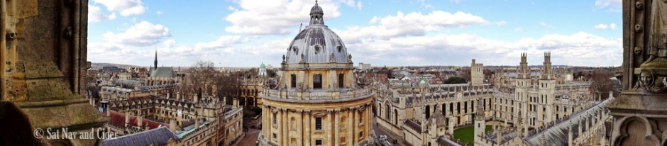 Panorama of Lincoln and All Souls Colleges and Radcliffe Camera, Oxford